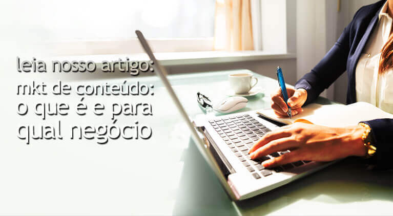 Banner sobre marketing de conteúdo e marketing digital